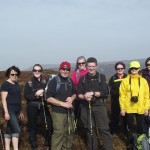 Ramblers on  Cullaigh  2012-03-25